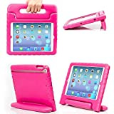 eTopxizu Shockproof Case Light Weight Kids Case For Apple iPad 4, iPad 3 & iPad 2 2nd 3rd 4th Generation,iPad 2 3 4 Shockproof Case Super Protection Cover Handle Stand Case for Children(Pink)