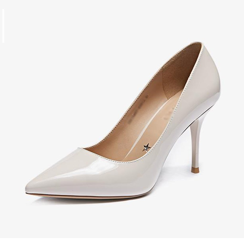 JIANXIN Damen Feine Fersen Und High Heels Und Spitzer Einzelner Einzelner Einzelner Schuhe Nackte Damenschuhe Frühling. (Farbe   Beige größe   EU 36 US 5.5 UK 3.5 JP 23cm) 2643a6