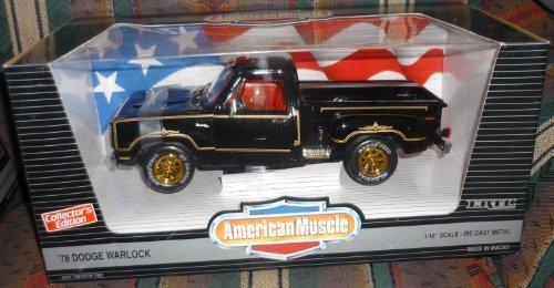 - #7383 Ertl American Muscle '78 Dodge Warlock 1/18 Scale Diecast