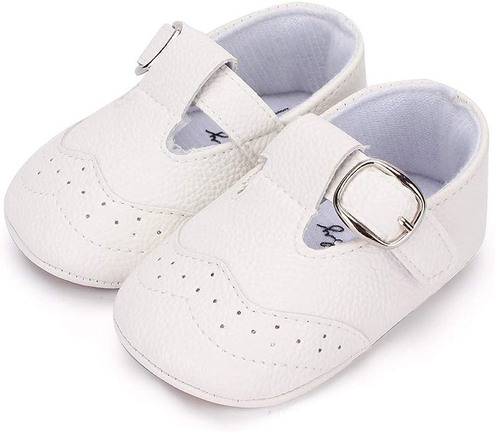 LACOFIA Zapatillas Antideslizantes para bebé niño Zapato Primeros Pasos de Cuero Suave de PU para bebé