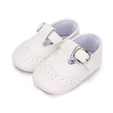 sports shoes 7f07f cd044 LACOFIA Scarpe Primi Passi Bambino Ciabatte Scarpe Neonato in Morbida Pelle  Antiscivolo