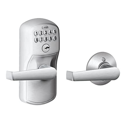 Schlage FE575 PLY 626 ELA Plymouth Keypad Entry With Auto Lock And Elan  Levers,