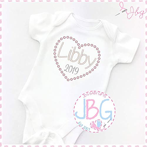 Personalised Baby Vest Unisex Clothes Soft Fluffy Gift Design Grow Bodysuit