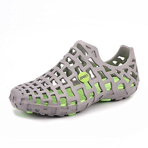 Xing Lin Sandalias De Hombre Cueva De Verano Zapatos 36 Beach 37 Hombres Baño Baño Plástico El Plástico Zapatos Zapatos Zapatillas Sandalias gray