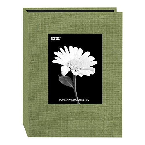 Pioneer Photo DA-57CBF/SG 24-Pocket Frame Cover Album for 5 by 7-Inch Prints, Sage Green Fabric