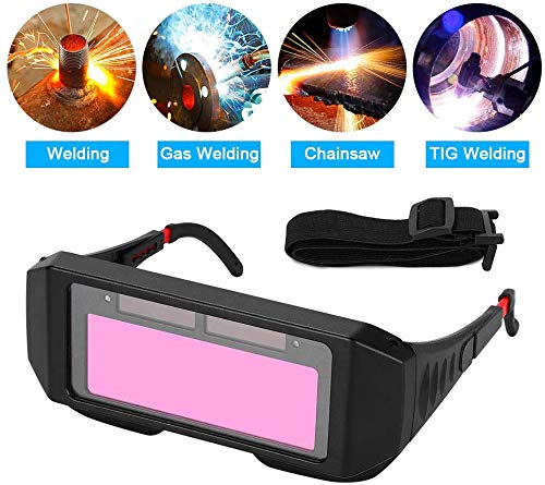 Eyes Goggles Mask Anti-Flog Anti-glare Goggles-Black 1 Pair LCD Solar Power Auto Darkening Welding Goggle Safety Protective Welder Glasses Mask Helmet with Adjustable Shade