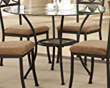 ACME 70365 Desi Dining Table with Glass Top