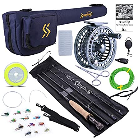 Sougayilang Fly Fishing Rod and Reel Combo, 4 Pieces...