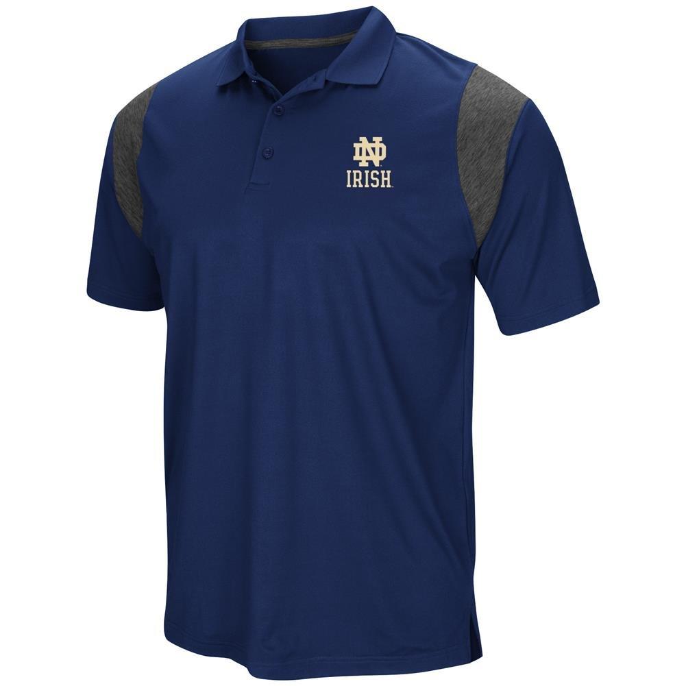 Colosseum Notre Dame Fighting Irish Mens Blue Friend Polo Shirt