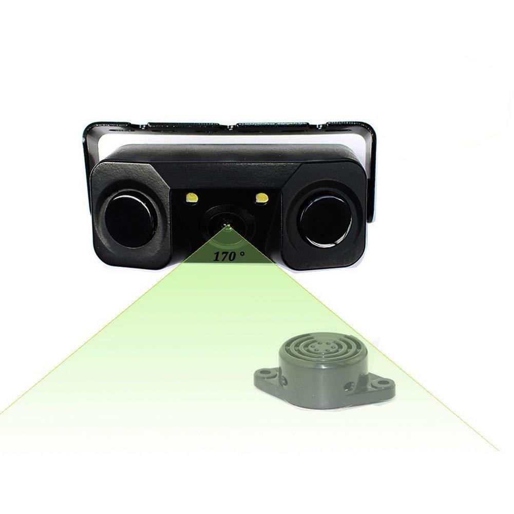 UxradG Impermeable, /ángulo de visi/ón de 170 Grados C/ámara de visi/ón Trasera para Coche con Sensor de Aparcamiento de Radar HD