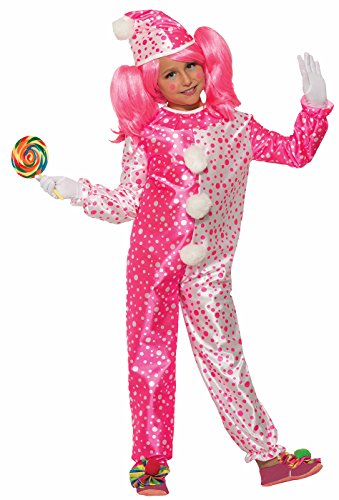 Forum Novelties Child's Value Pinkie The Clown Costume pink/White