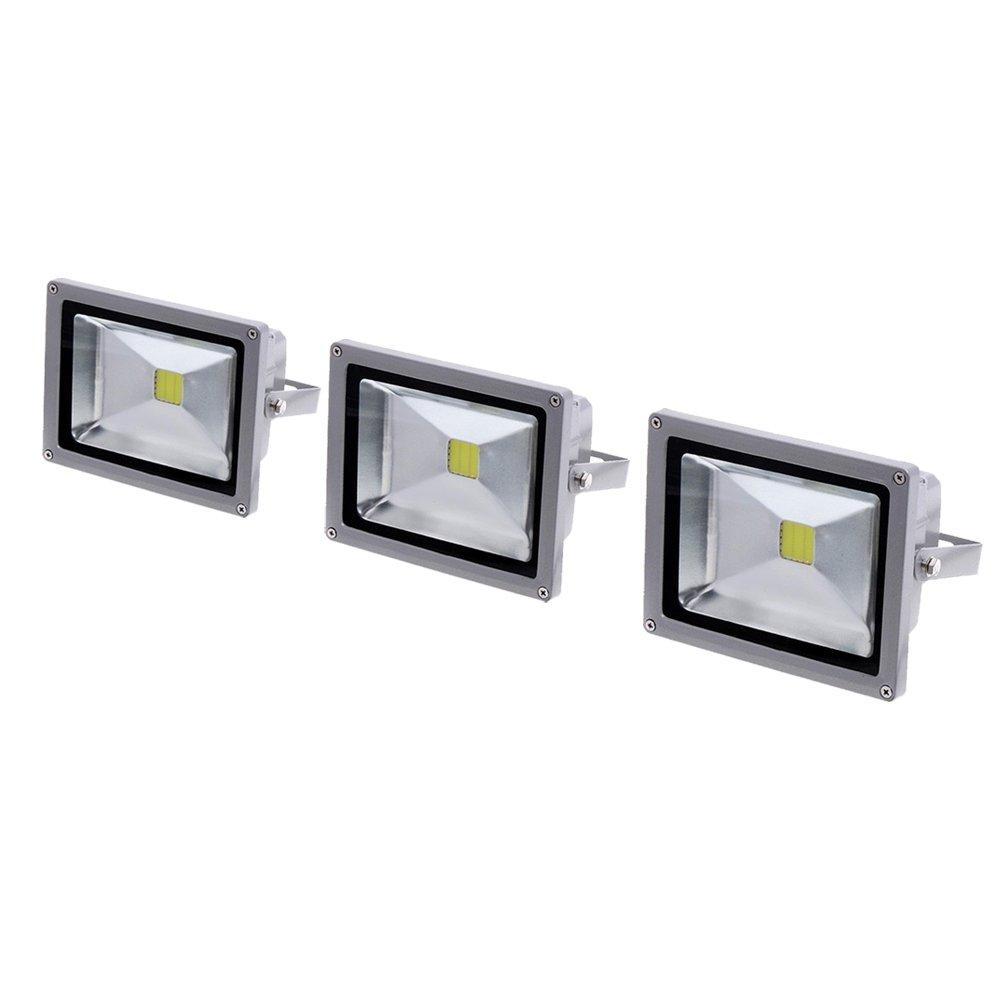 eTopLighting LEF12V10DL-3P 3 Pack High Power LED Flood Outdoor Security Light Bulb 10W 12V Waterproof IP65 Cool White 10 Watt