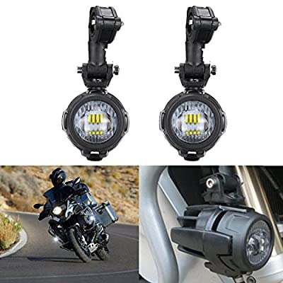 2 Pcs 40W LED Auxiliary Lamp 6000K Super Bright Fog Driving Light For Motorcycle BMW K1600 R1200G