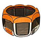 Cheap Orange Pet Dog Tent Puppy Playpen Exercise Pen Kennel S