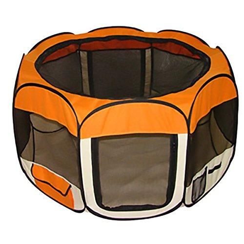 Orange Pet Dog Tent Puppy Playpen Exercise Pen Kennel S Review