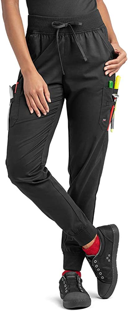 Industry Line Women's Jogger Chef Pant (XS-3X, Black)