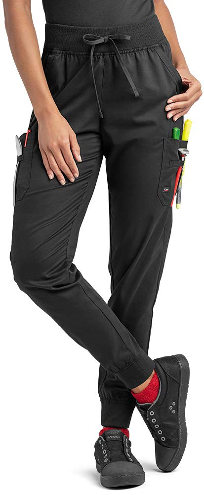 Industry Line Women's Jogger Chef Pant (XS-3X, Black) (XXX-Large) by Industry Line