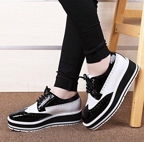 escogen del Ms de Ms bajo CN36 los tacón EU36 retro zapatos Spring UK4 zapatos estudiante los US6 zapatos zapatos elevador wPY5tqF5