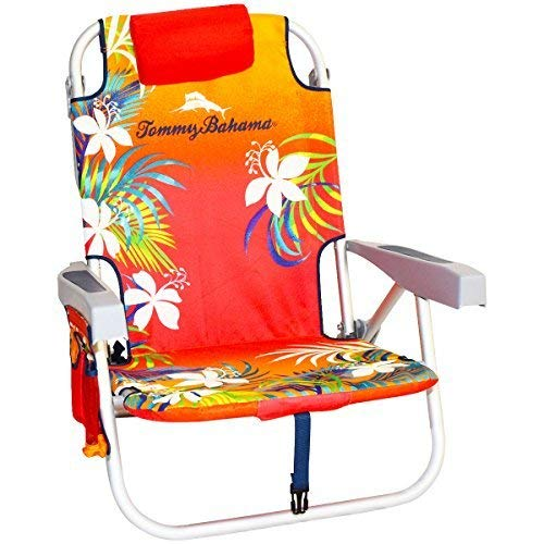 Tommy Bahama Backpack Beach Chair, Red - Two Place Park Light
