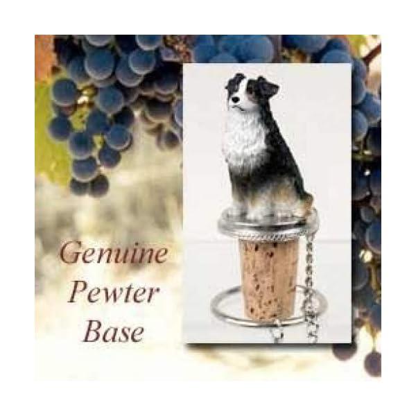 Australian Shepherd Tri-Color Wine Bottle Stopper - DTB99E 1