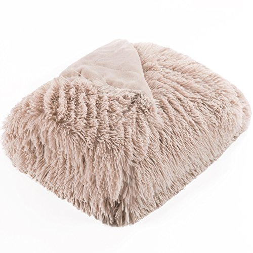 Bedsure Plush Faux Fur Reversible Fleece Bed Throw Fuzzy Nap Blanket –Super Soft Lightweight Throw for Boys Girls Adults (Twin 60