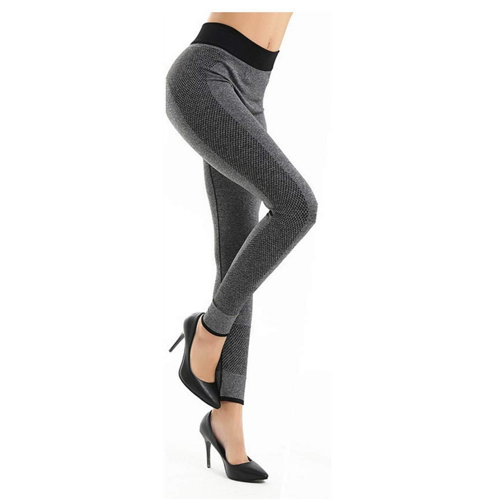 SGMORE_Yoga Pants for Women Power Workout Leggings Capri and Full Length Ultra Soft Lightweight Leggings Activewear Plus Size Bootcut Tights Stretchy Gray