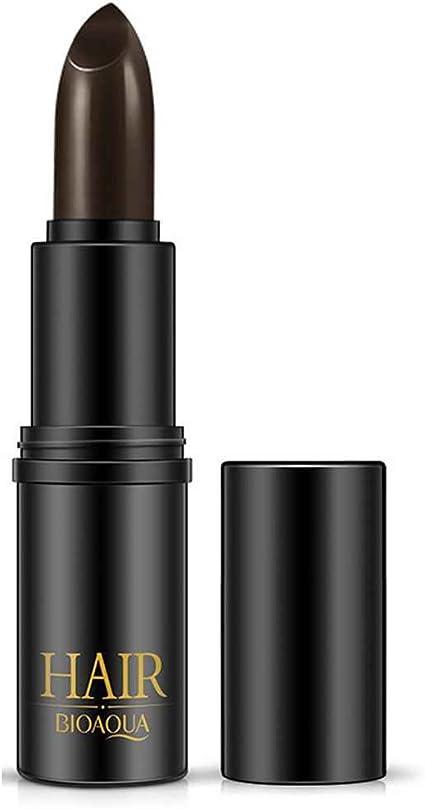 GOTTING BIOAQUA Negro Marrón Desechable Temporal y tinte de pelo para colorear lápiz de la pluma del palillo de cubierta blanca del lápiz labial de ...