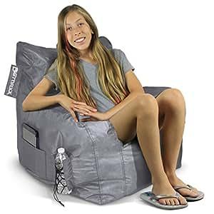 American Furniture Alliance Jr. Fx Big Maxx Mega Bean Bag, Grey