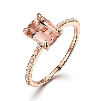 Amazon.com: Anillos mujer, chainsee oro rosa anillo de ...