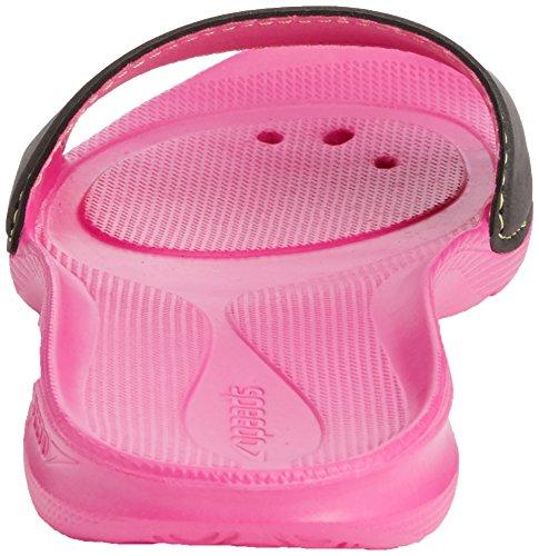 Speedo Atami II, Chanclas de Material Sintético Mujer Pink/Grey