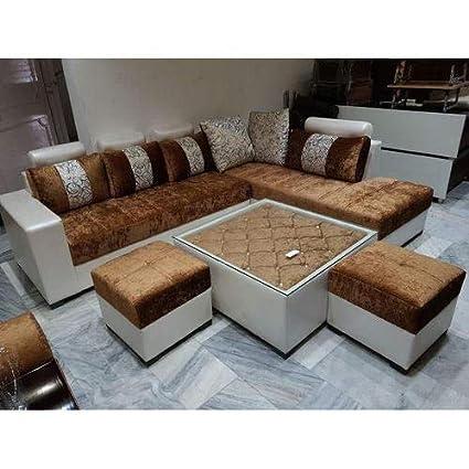 Sunny Designer Sofas Solid Wood Box Handle Sofa (Beige): Amazon.in: Home & Kitchen