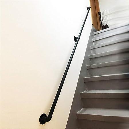 MYPNB Barandillas Escalera de barandilla pasamanos 3030cm Negro barandilla de Hierro Escaleras Pasamanos de Seguridad Kit |de los niños/Kinder/Loft Pasamanos Interior y Exterior (Size : 200cm): Amazon.es: Hogar