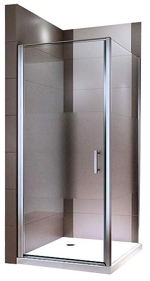 Dusche 90x90.Duschkabine 90x90 Pendeltür Eckdusche Esg Sicherheitsglas Nano Milchglas Streifen Dusche Ex416 1