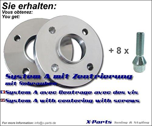 40 mm é largisseur de voie 4 x 100 NLB 57, 1 mm 20 mm par page + vis 1mm 20mm par page + vis X-Parts