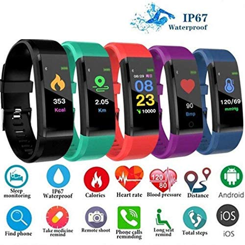 LIOPIO Fashion Waterproof Heart Rate Monitor Bluetooth Smartwatch Gift Smartwatches