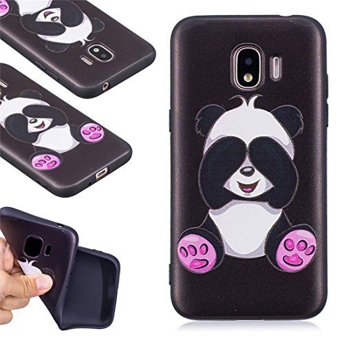 Galaxy J2 Pro 2018 Case, Lwaisy Emboss Painted Design Flexible Soft TPU Bumper Shockproof Anti-Scratch Slim-Fit Protective Skin Cover for Samsung Galaxy J2 Pro 2018, Cute Panda