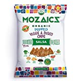 Mozaics Salsa Organic Popped Veggie Chips- Under 100 Calories, Gluten Free Healthy Snack – Healthier than veggie straws or stix – 3.5oz big bags (Salsa, 8-count)