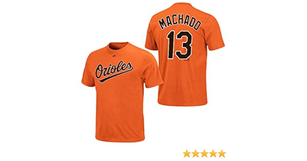 Amazon Com Manny Machado Baltimore Orioles Orange Youth Jersey Name And Number T Shirt X Large 18 20 Sports Outdoors