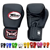 Twins Special Boxing Gloves Velcro (Black) (10 ounce)