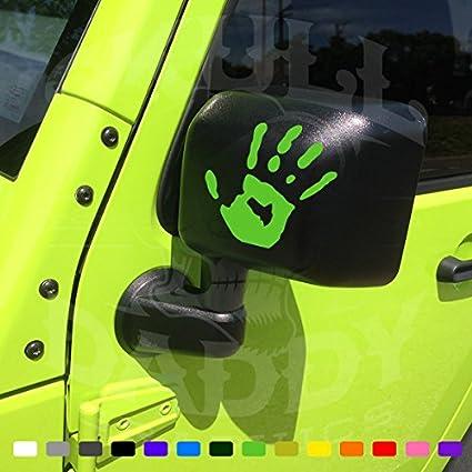 TWO WAVE Stickers Fits Jeep Wrangler JK TJ YJ CJ (x2) Decals PAIR Left
