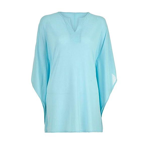 f65094b6b660 TOPKEAL Camiseta de Damas Atractivas Blusa Suelta de Manga Media de ...