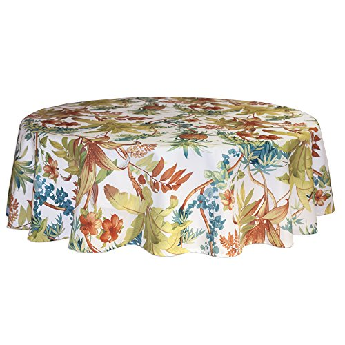 """Tommy Bahama Tortuga Round Tablecloth, 70"""""""