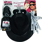 Michael Jackson Costume Accessory Kit with Wig Hat Glove and Glasses