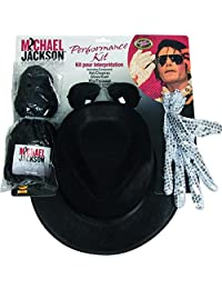 Rubies Costume Co Michael Jackson Costume Accessory Kit with Wig, Hat, Glove and Glasses