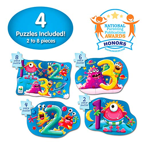 The Learning Journey My First 4-In-A-Box Puzzle - 123 - STEM Educational Toddler Toys & Gifts for Boys & Girls Ages 2 and Up - Award Winning Puzzle