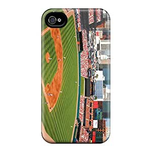 Rewens Design High Quality St. Louis Cardinals Cover Case With Excellent Style For Iphone 4/4s