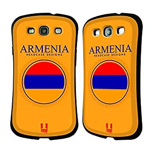 Head Case Designs Flag of Armenia Patches Hybrid Gel Back Case for Samsung Galaxy S3 III I9300