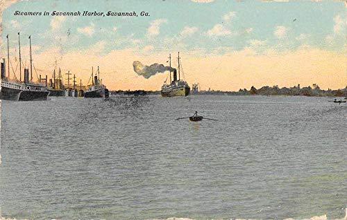 Savannah Georgia Savannah Harbor Steamers Vintage Postcard -