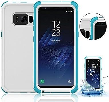 Funda Impermeable Samsung Galaxy S8 Plus, Vandot Funda Carcasa Sumergible para Natación,Buceo,Canoa,Surf, kayak,pesca,piscina,a la playa y piscina,O bajo inclemencias de tiempo adversas Waterproof Case para Samsung Galaxy S8 Plus (Galaxy S8+), Azul: