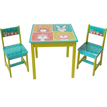 Style Home Kindersitzgruppe Holz Kindermobel Set Aus 1 Kindertisch